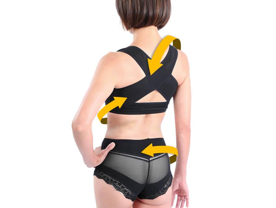 ガールズテックは着るだけで姿勢を改善